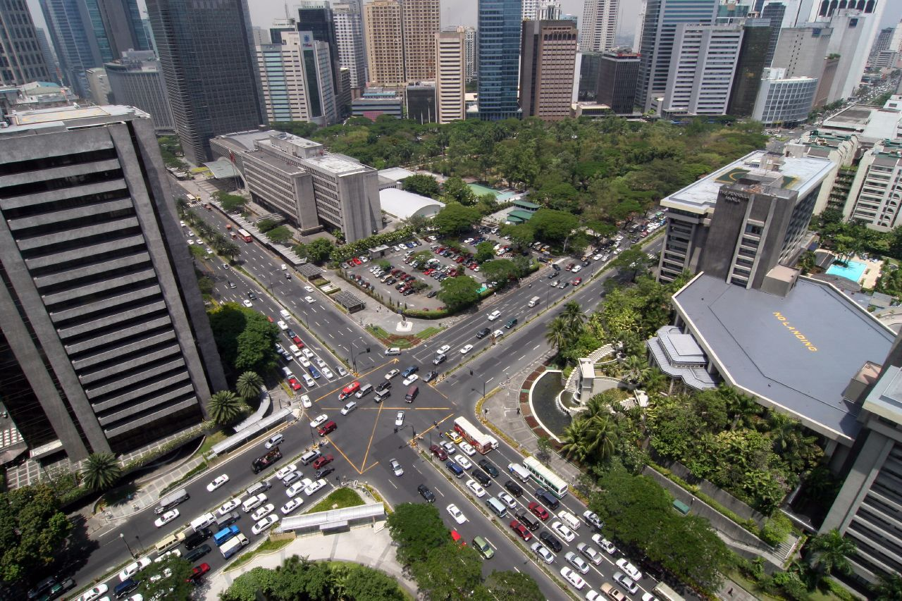 Ayala Avenue in the Makati Central Business District