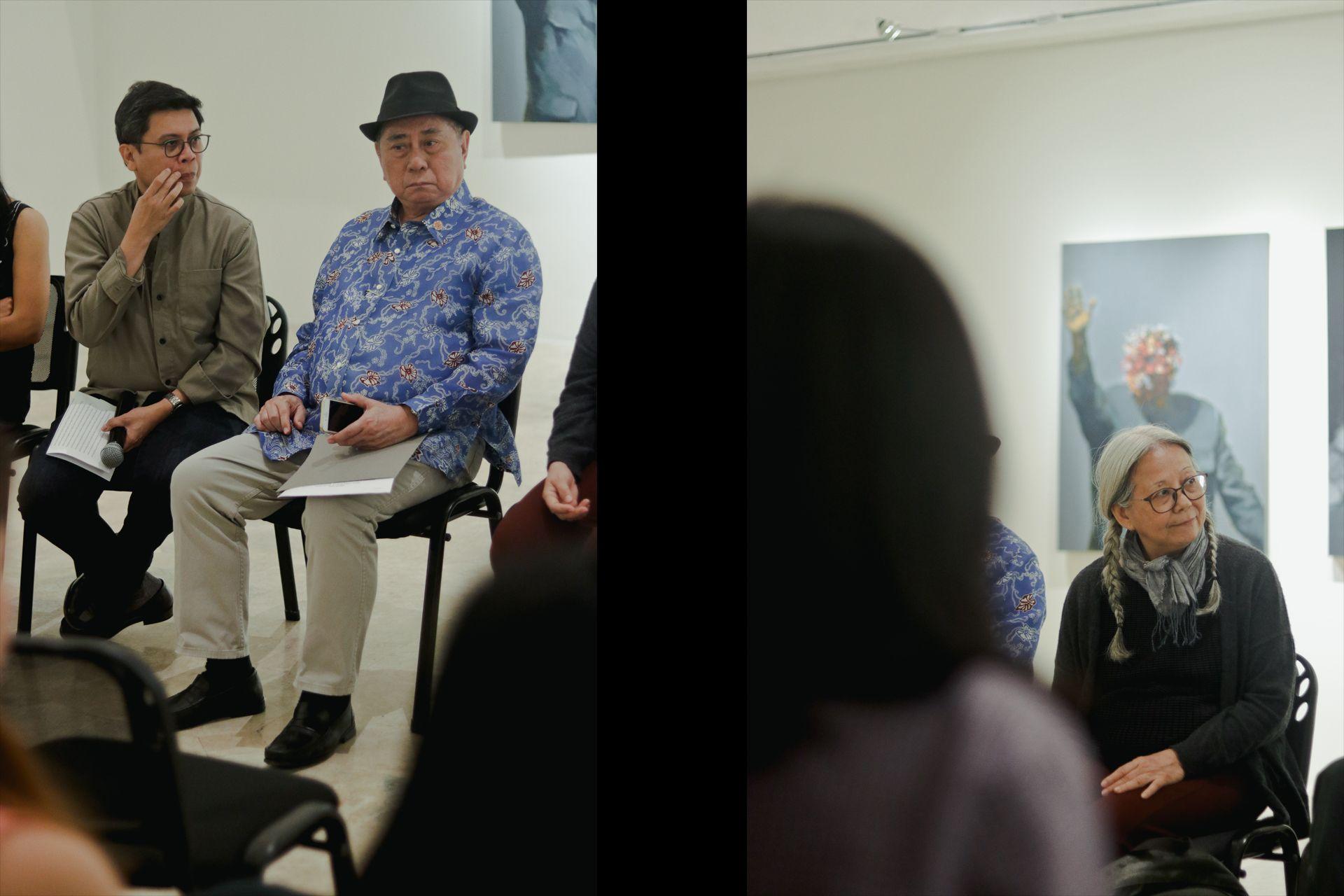 L: Curator, Dr. Patrick Flores & NCCA Chairman & National Artist, Virgilio Almario; R: Amanda Heng (Singapore)