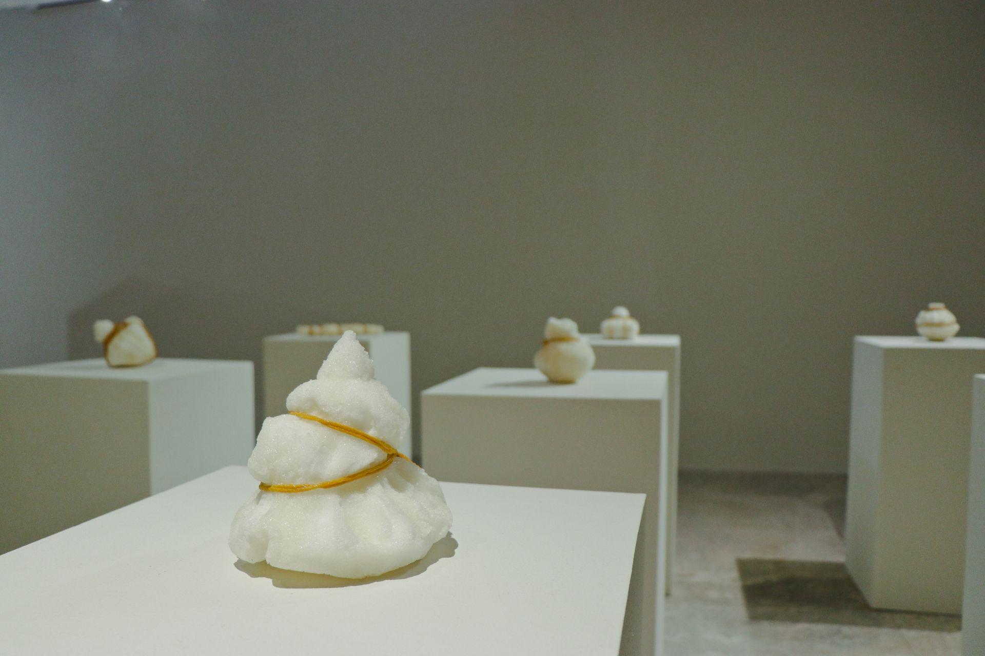 Salt installations by Yasmin Jaidin (Brunei)