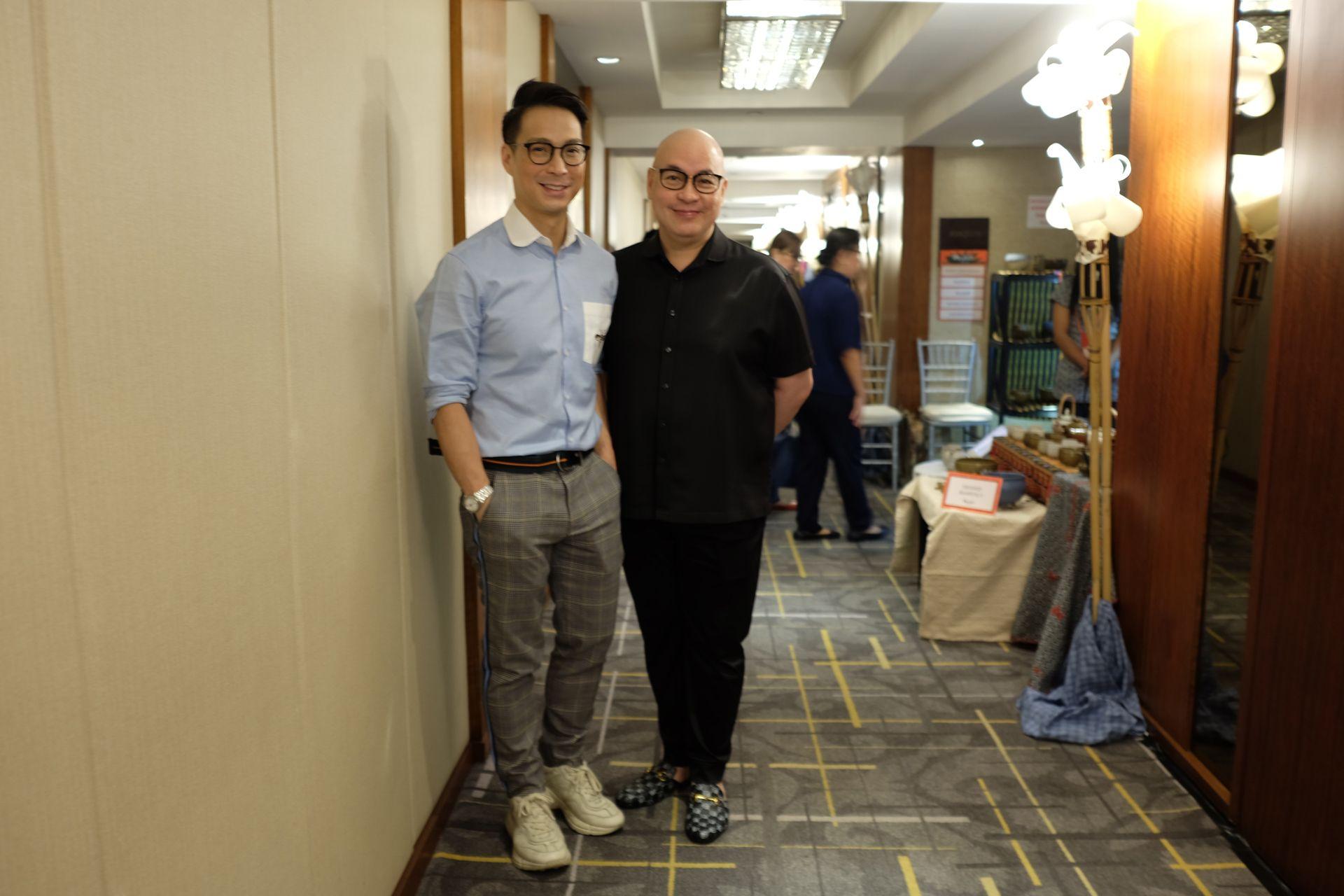 Designer Francis Libiran with Arsi Baltazar