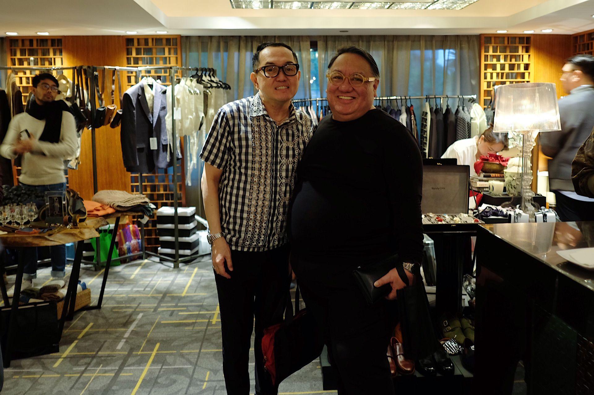 Designer Randy Ortiz and top fashion director Jackie Aquino