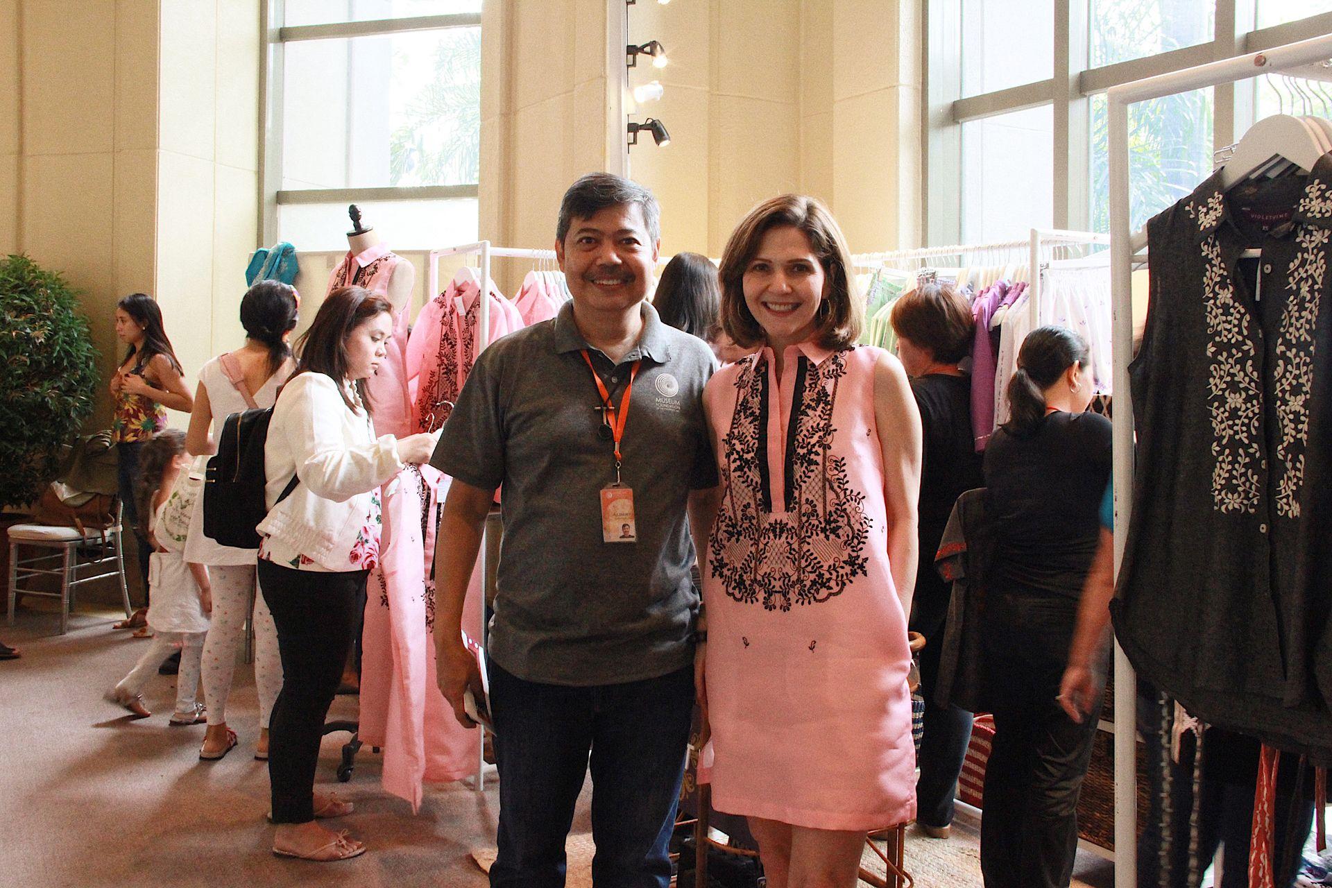 Albert Avellana with designer Anne Marie Robicheau Saguil