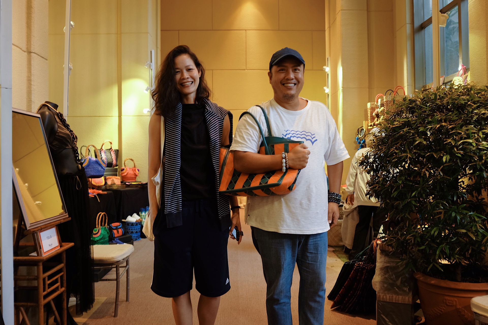 Model-Photographer Joanne Bitangcol with fashion editor Luis Espiritu