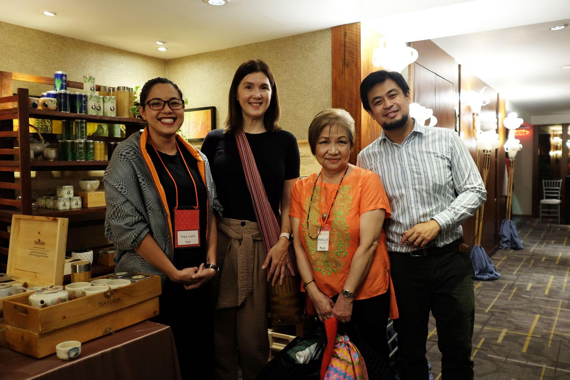 Senator Pia Cayetano and MFPI's Phyllis Zaballero flanked by Denise Subido and Jamir Ocampo of Tsaa Laya