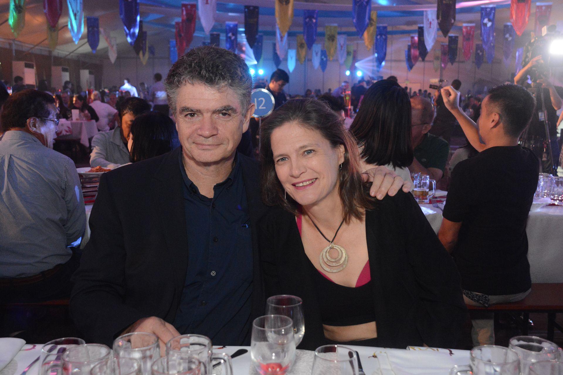 Belgian Ambassador Michel Goffin and Megan Baldwin