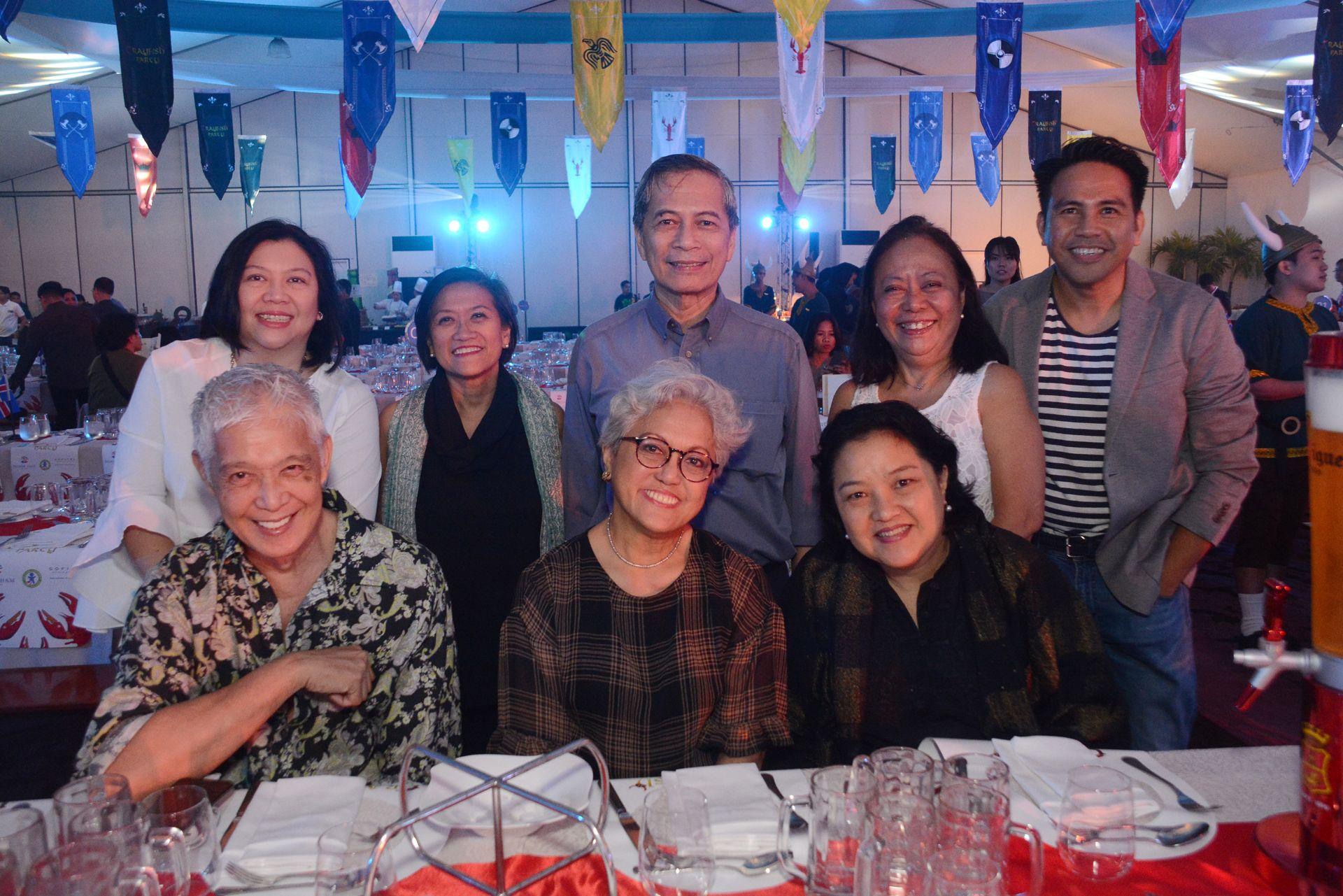 Loi Arcenas, Becca Jose, Jinggay Caimo, Leah Magallanes, Tess Rances, CCP Trustee Nestor Jardin, Bernie Abella and Neil Rumbaoa