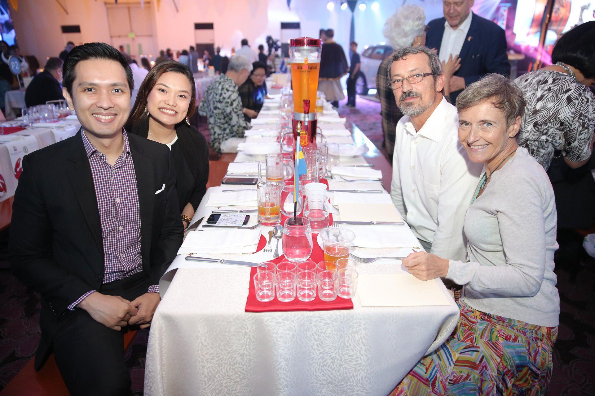 Paolo Ilustre, Ikea's HR Manager Diana Atienza, Ikea  Philippines Market Development Manager Georg Platzer and Tatjana Platzer