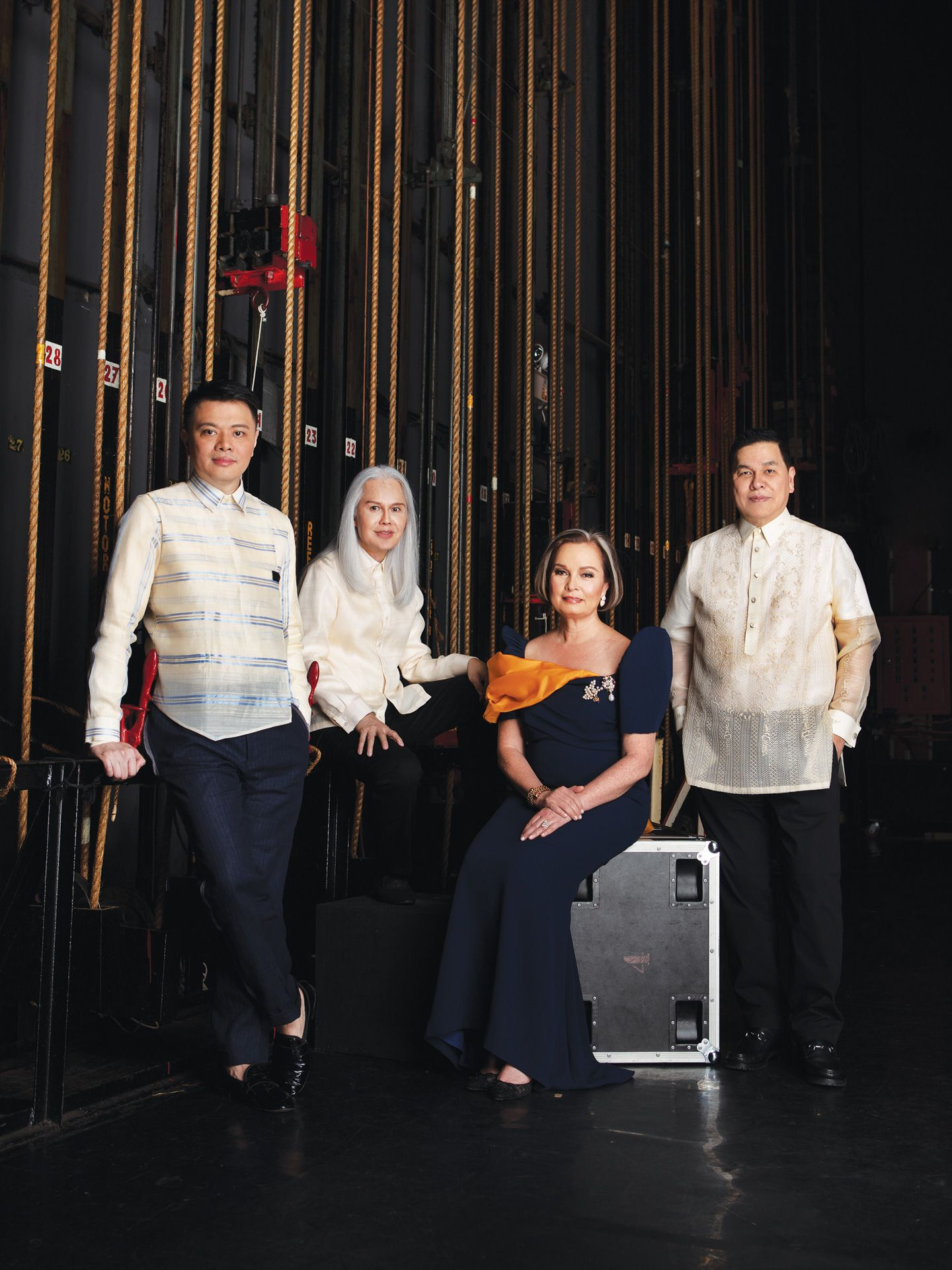 Artistic director Gino Gonzales, Chief mentor Inno Sotto, CCP Chairwoman Margie Moran-Floirendo, and Bench founder Ben Chan