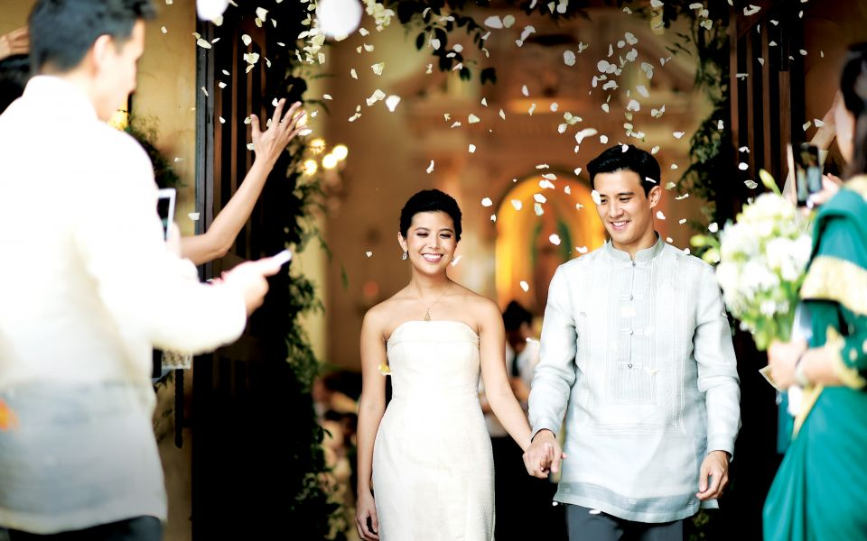 Architect Miko de los Reyes and luxe retail heiress Nicole Tantoco combined the four things they loved the most when they wed: family, fashion, design, and music