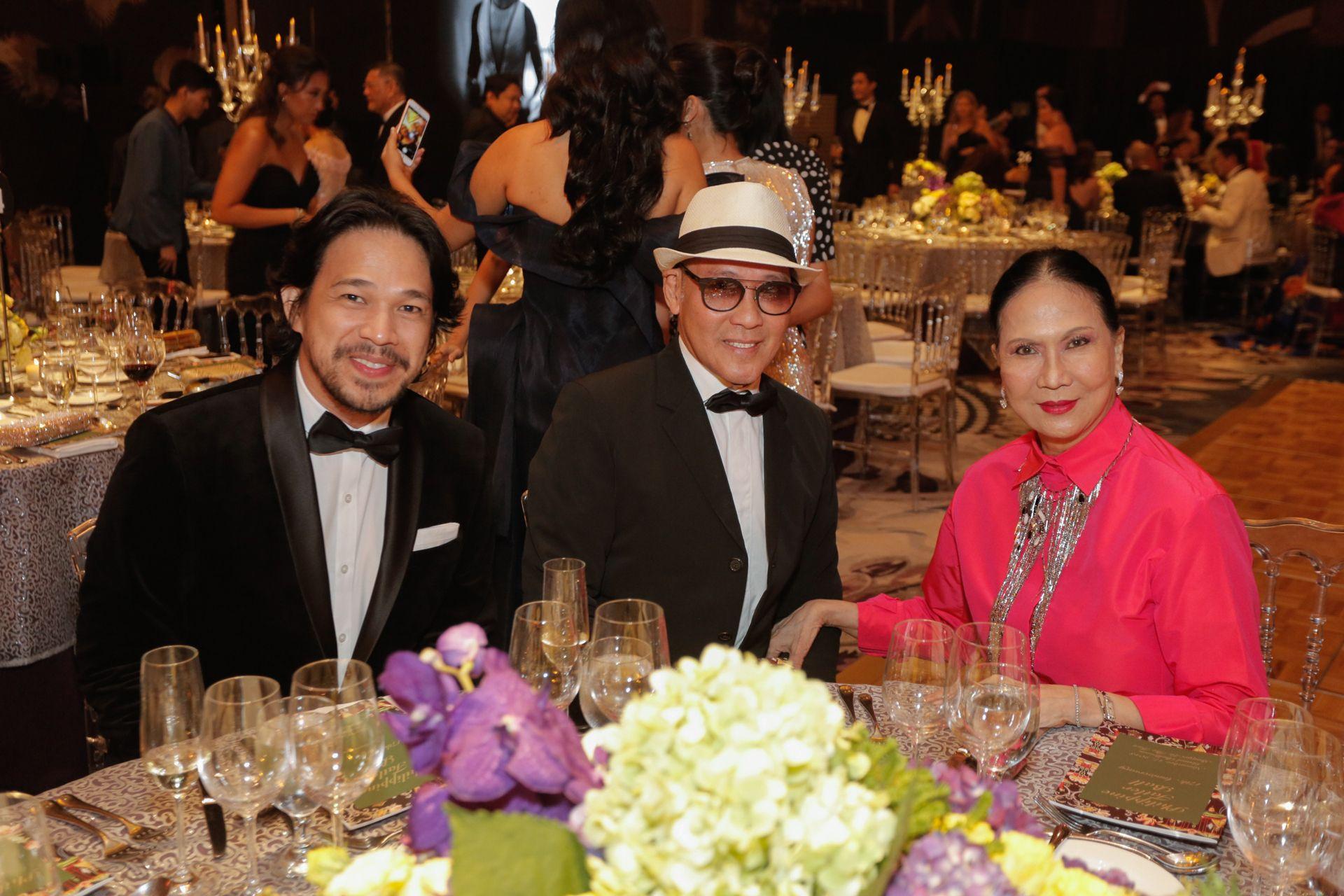 Royal Pineda and Budji Layug with Babette Benoit