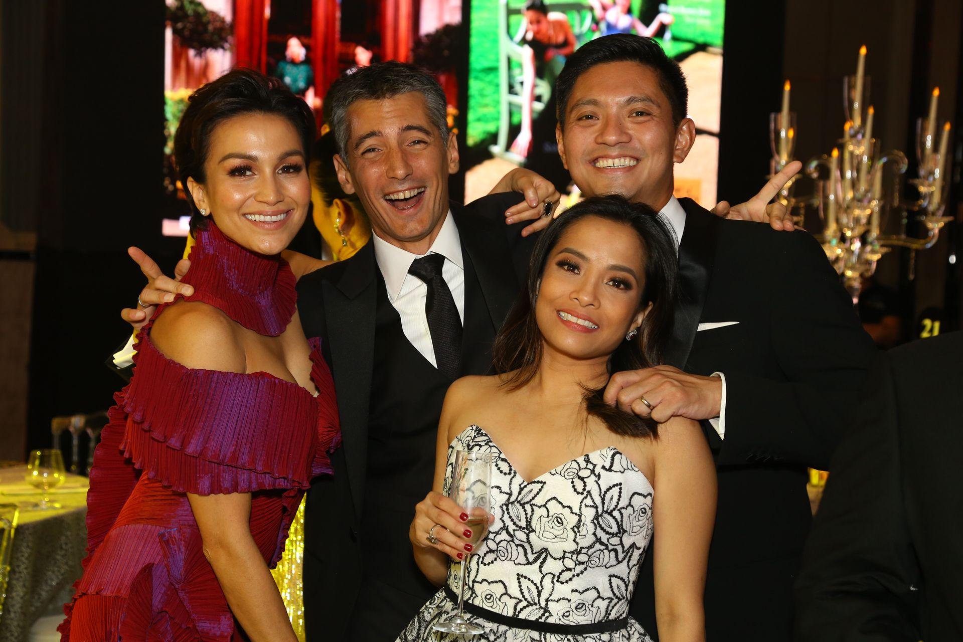 Stephanie and Christian Gonzalez with Tina and Carey Lagdameo