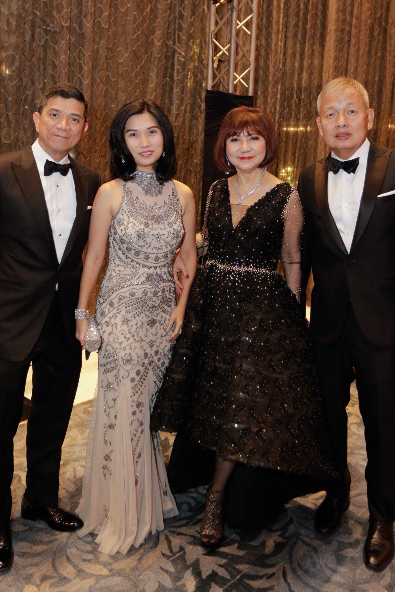 Louie and Liza Bate, Myrna Yao, Peter Coyiuto