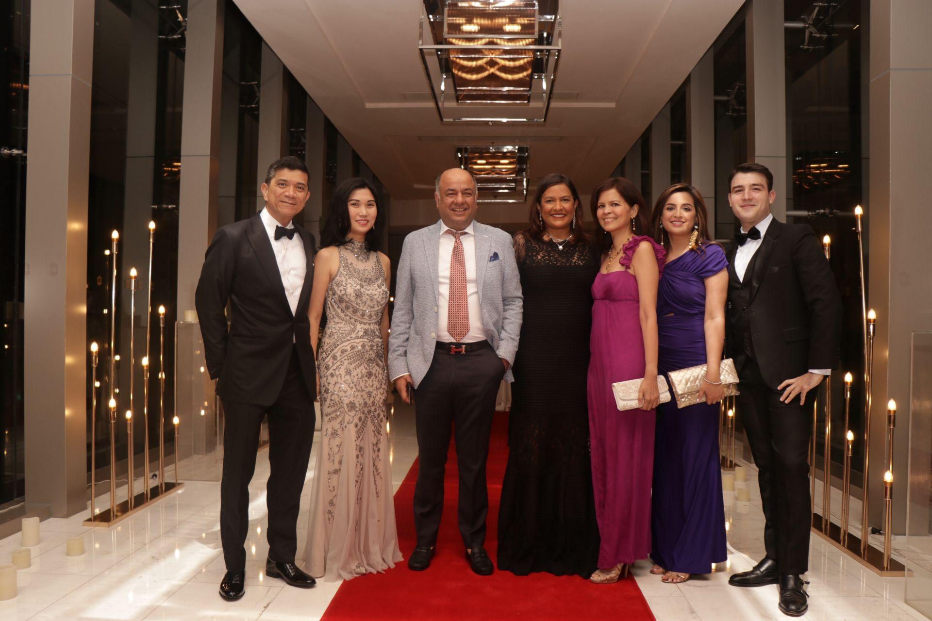 Louie and Liza Bate, Haresh and Sharmela Hiranand, Rose Ann Belmonte, Samantha Hiranand and Carlos Otermin.
