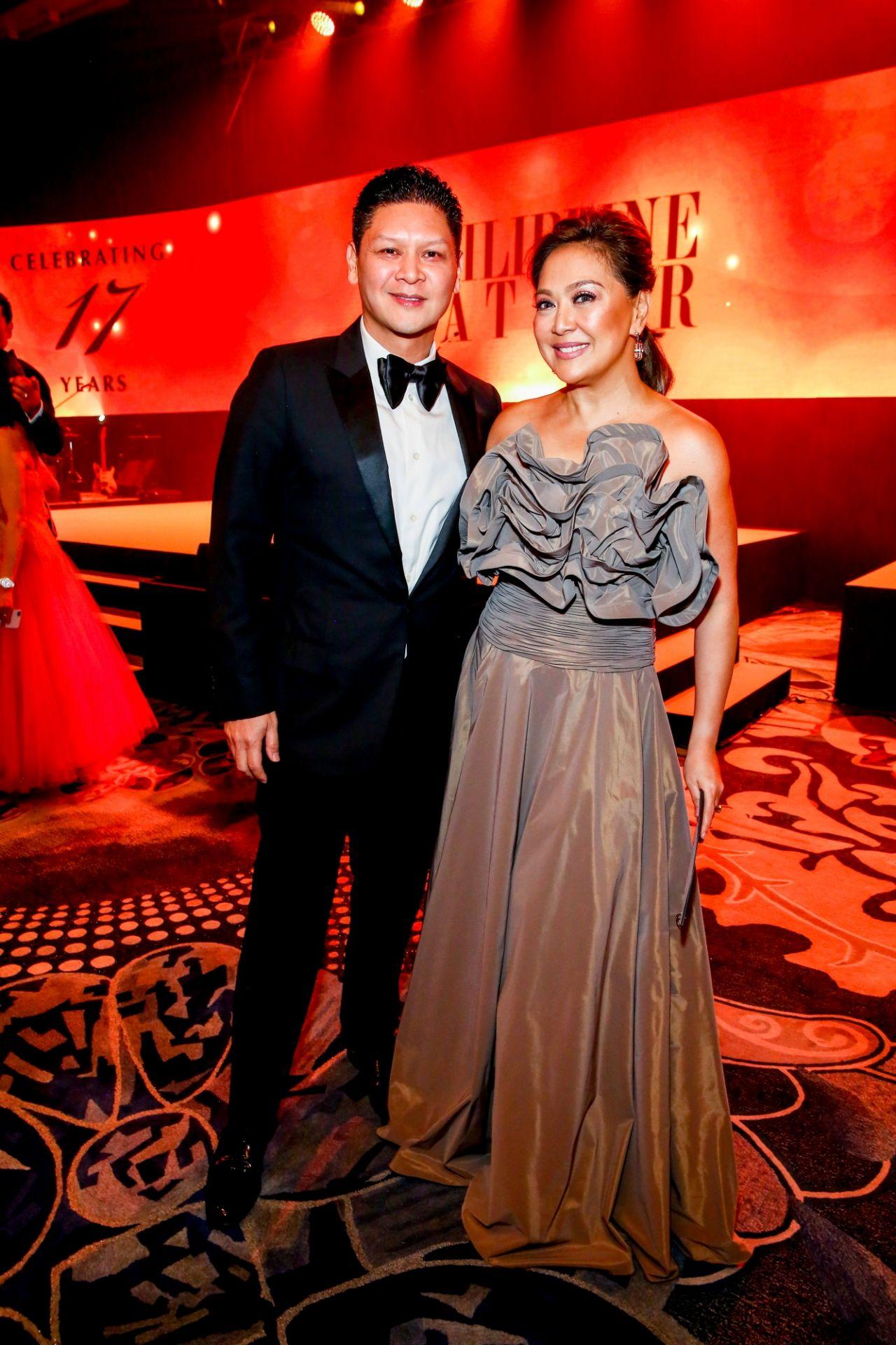 Anton San Diego and Karen Davila