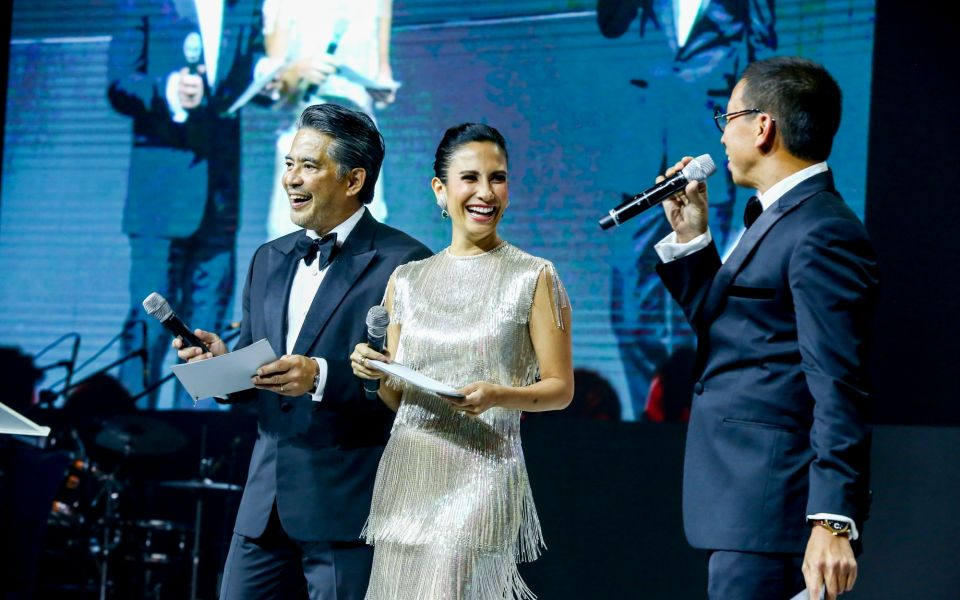 Dr. Randy Francisco, Stephanie Zubiri-Crespi, and Kim Atienza host the charity auction