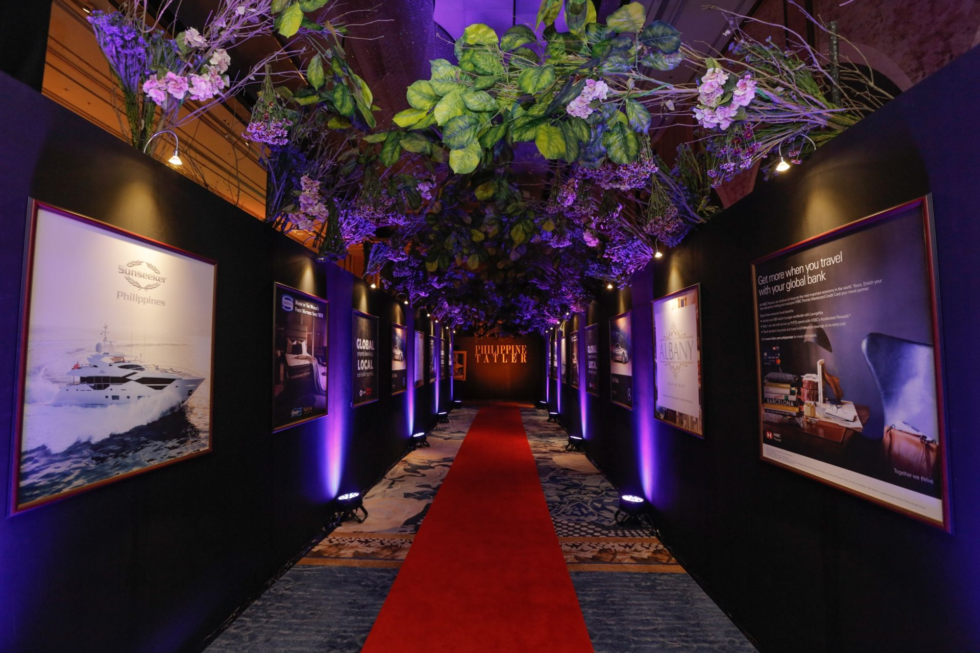 The entrance to the ballroom