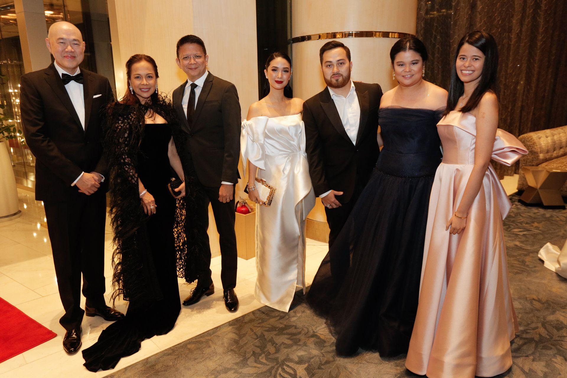 Felix Ang, Caroline Taojo, Senator Chiz Escudero, Heart Evangelista, Mark Bumgarner, Alex and Michaela Eduque