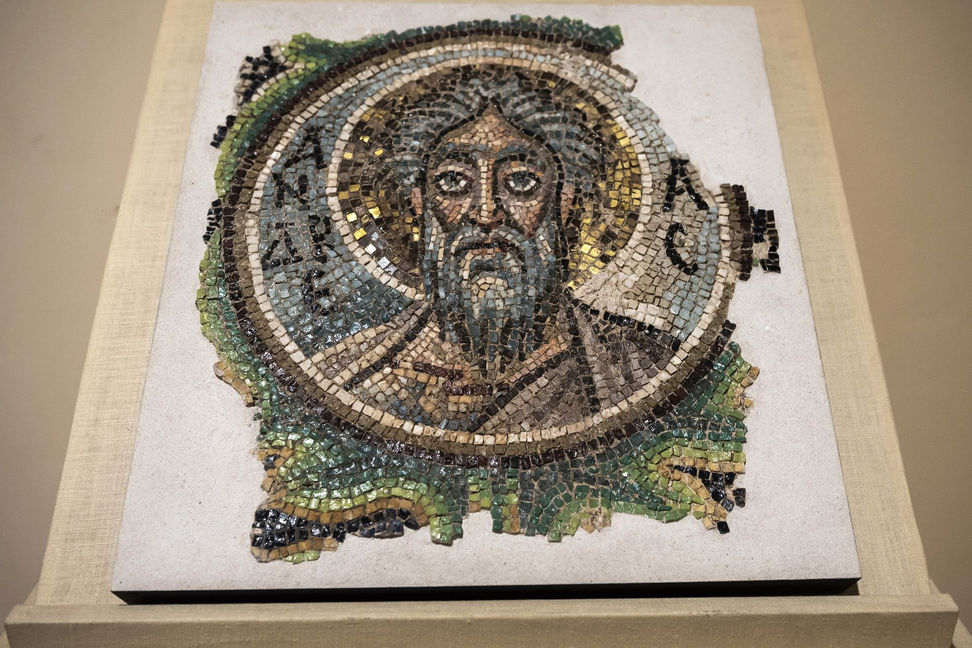 Looted Byzantine mosaic goes on display at Cyprus museum