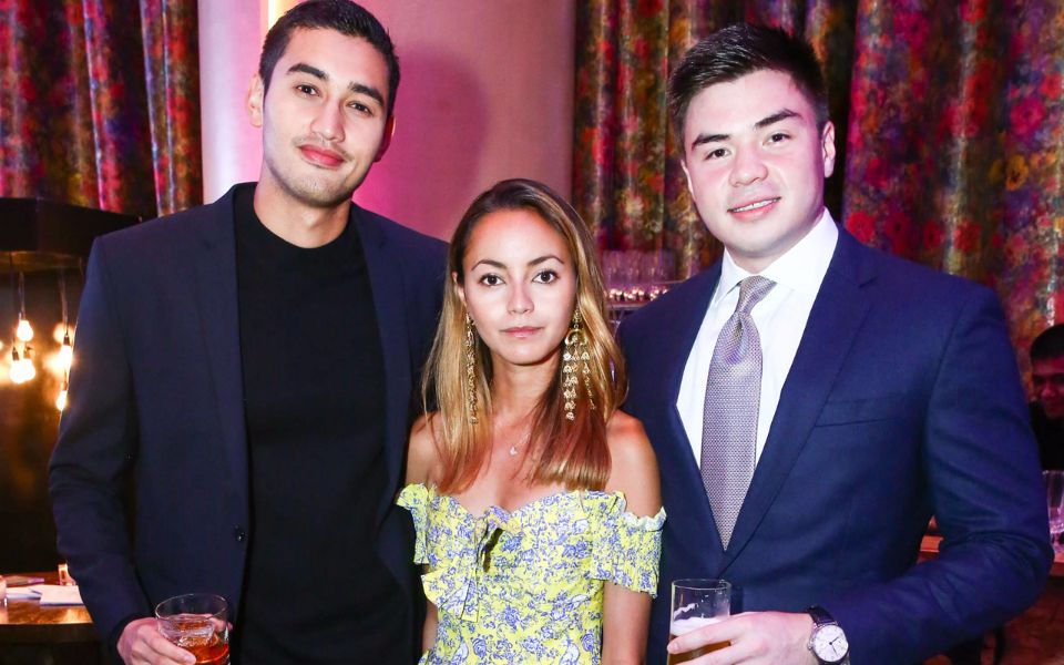 Back at home in the Philippines, Michael Concepcion, founder of award-winning boutique Commonwealth, and DJ and venture capitalist Katrina Razon toast their fellow listers with guest Mikkel Puyat.