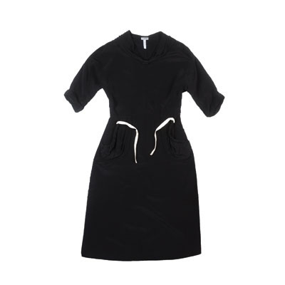 SG Tatler Fashion Drops - Loewe Black Tunic With Drawstring Waist