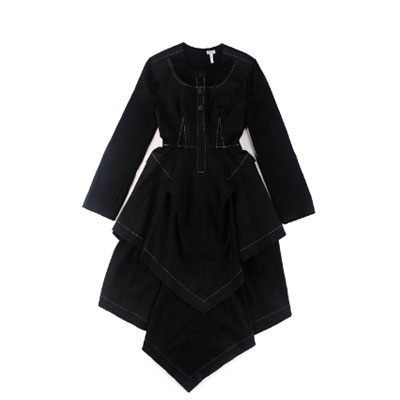 SG Tatler Fashion Drops - Dress With Contrast Stitching