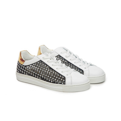 SG Tatler Fashion Drops - Pedder On Scotts Rene Cavilla Sneaker with Pearl and Rhinestones