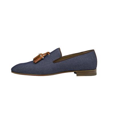 SG Tatler Fashion Drops - Christian Louboutin Dandelion Tassel Flat Blue