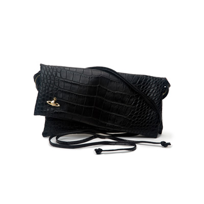 SG Tatler Fashion Drops - Vivienne Westwood Anglomania Croco Embossed Leather Crossbody Vivienne's Clutch