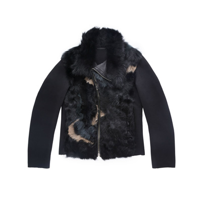 SG Tatler Fashion Drops - Emporio Armani Fur Blouson