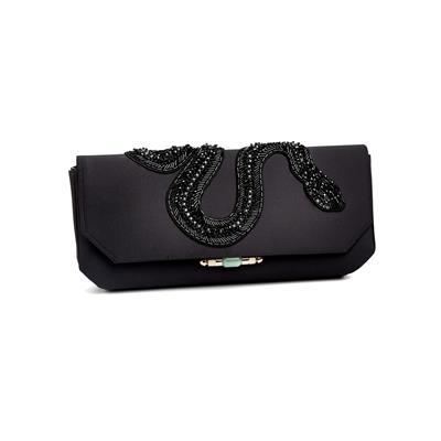 SG Tatler Fashion Drops - Shanghai Tang Embellished Snake Silk Clutch