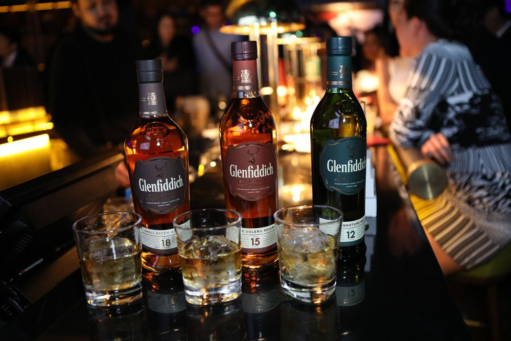 The selection from Glenfiddich