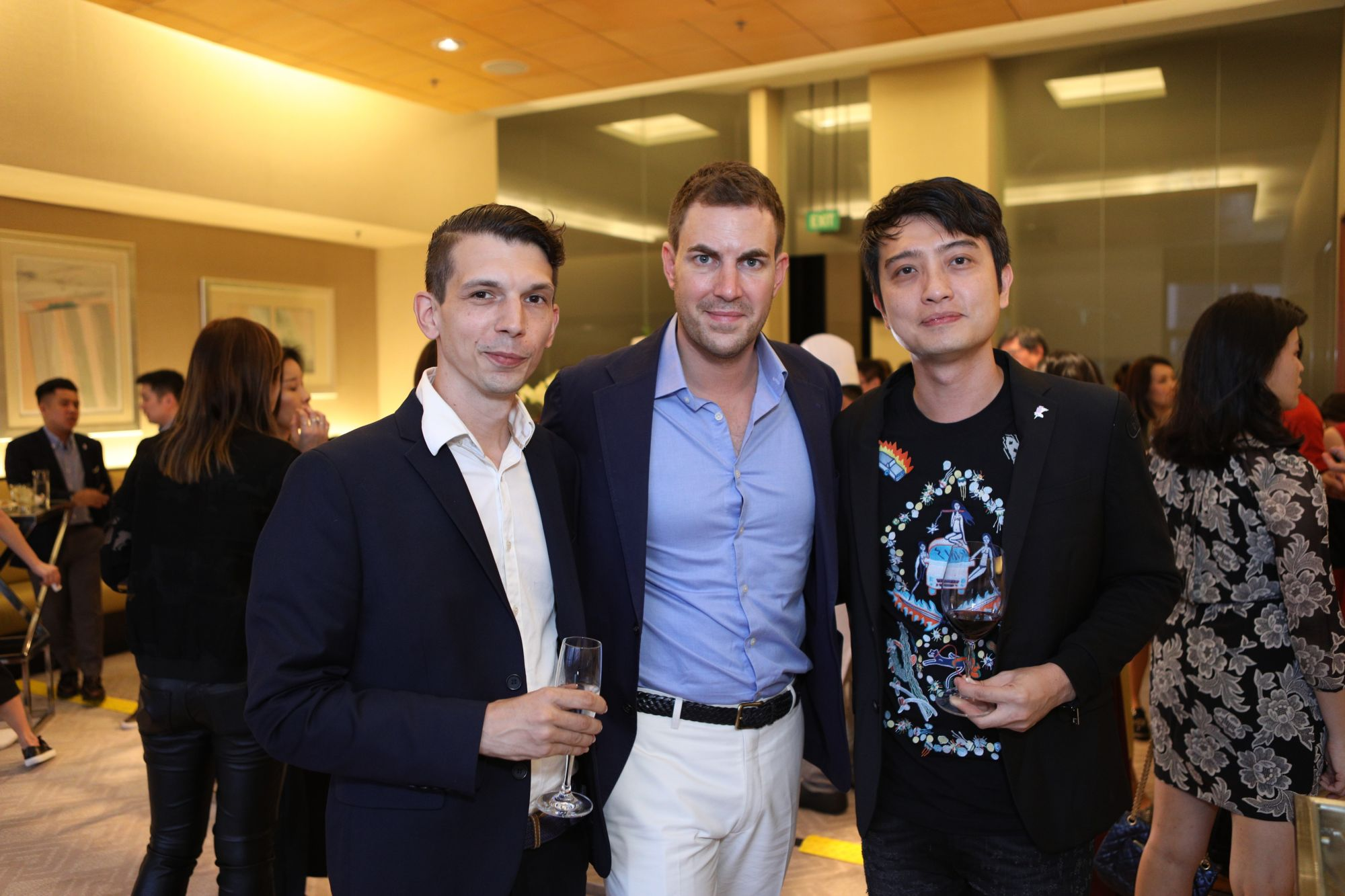 Bradley Foist, Michel Lamunière, David Chan