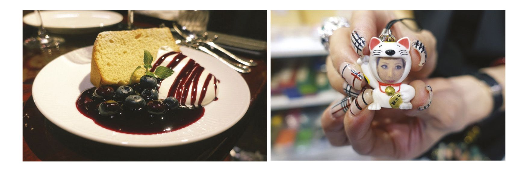 (Left to right)Who says I cant have my cake and eat it too?; When in Japan, do as the Japanese do, right? #burberryfornails