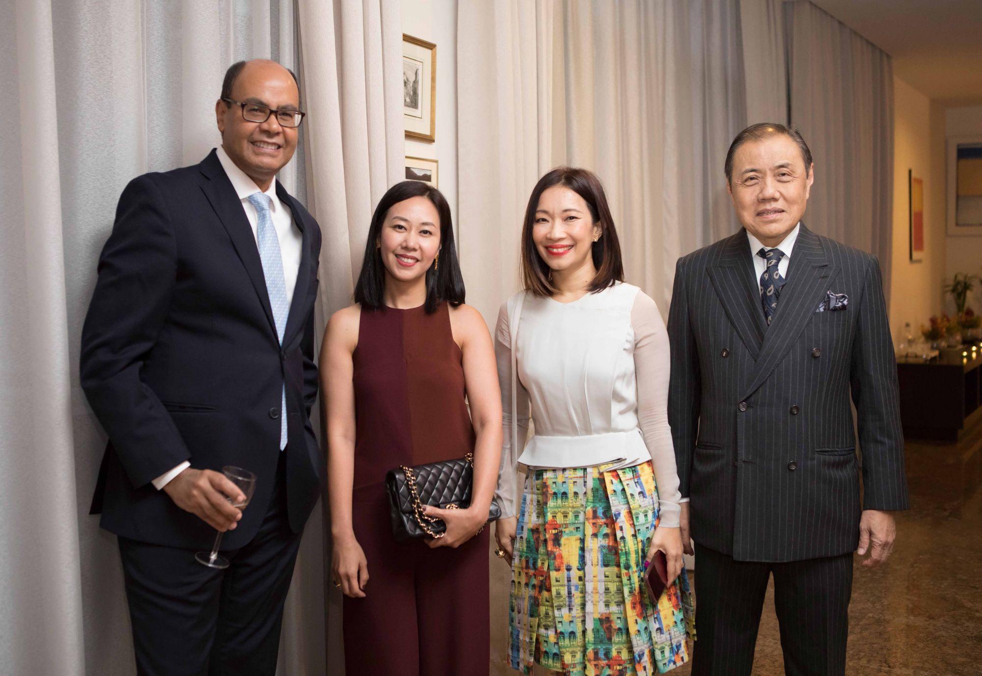 H.E. Flávio S. Damico, Kissa Castañeda, Corinne Ng, Tan Puay Hiang