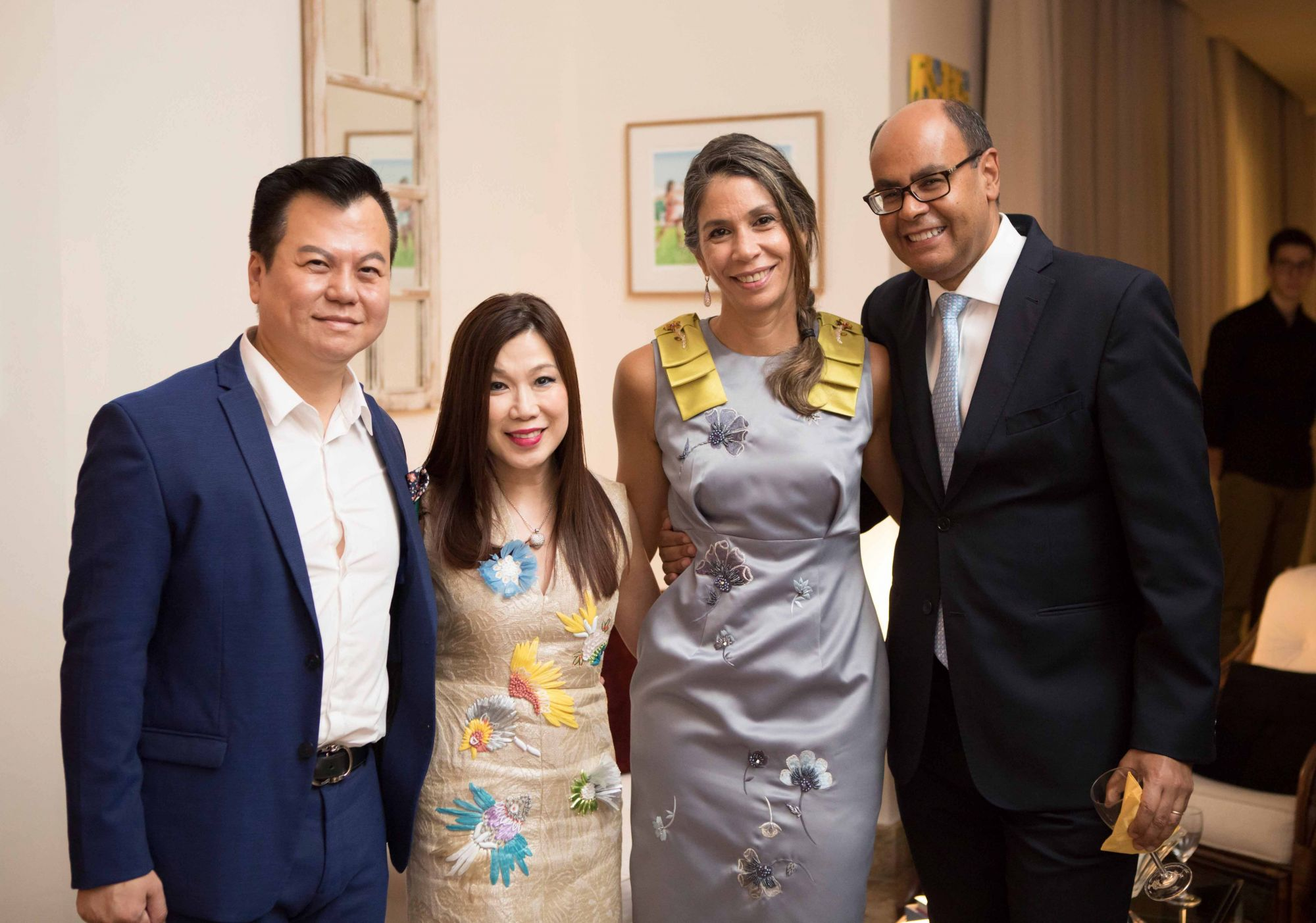 Adrian Peh, Susan Peh, Rosa Maria Campos Damico and H.E. Flávio S. Damico