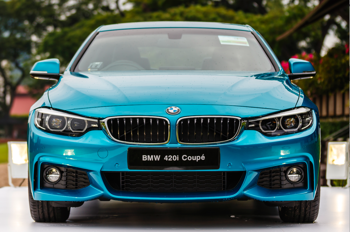 The BMW 420i coupe on display