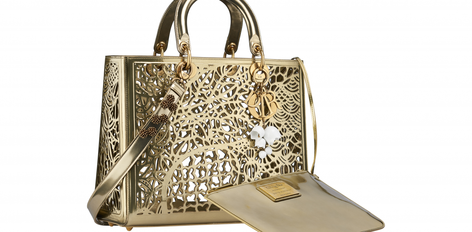 One of the two Lady Dior bags designed by David Wiseman - Dior Lady Art #2. Photo courtesy of Frederic Leclere