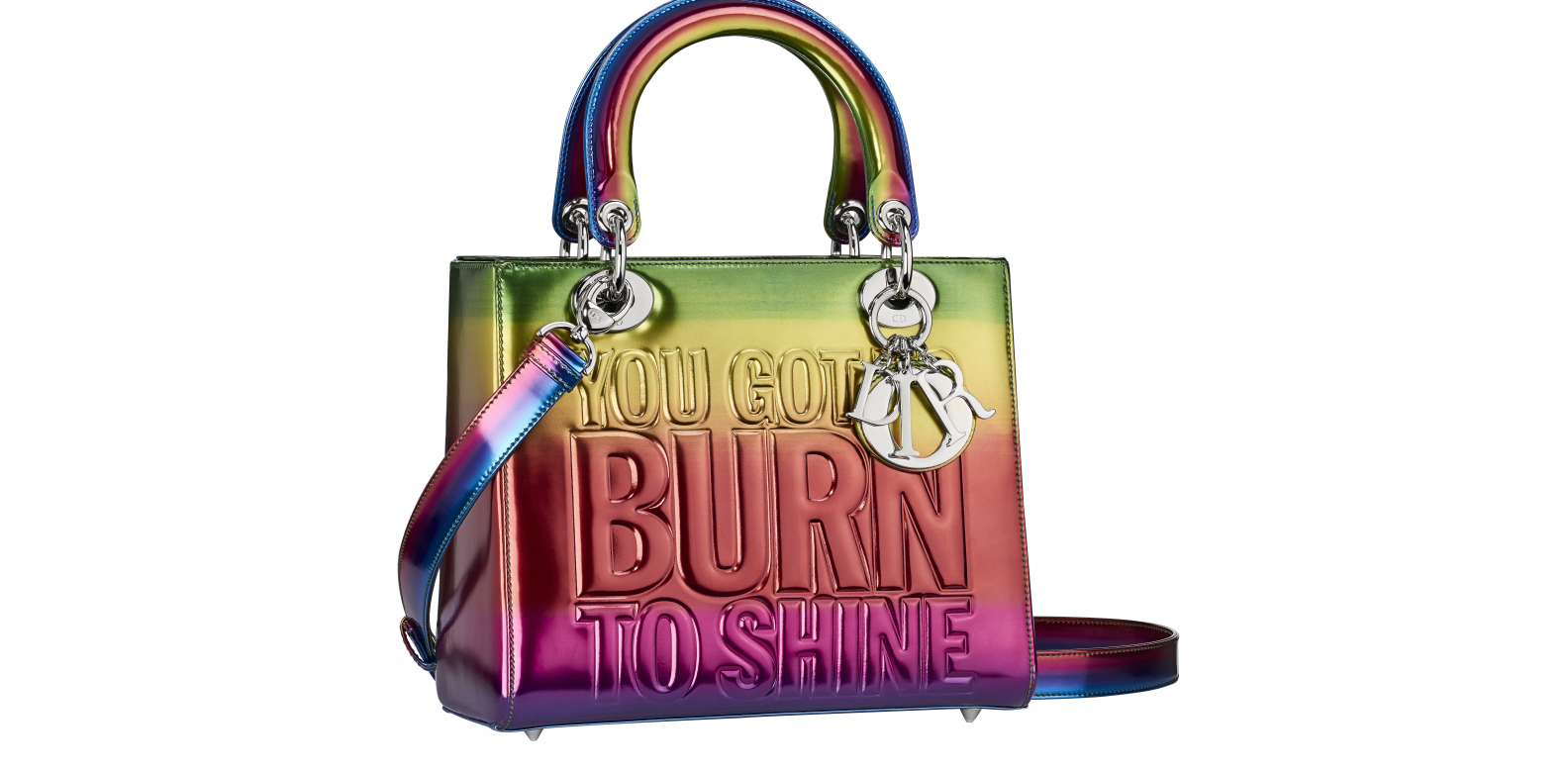 One of the two Lady Dior bags designed by John Giorno - Dior Lady Art #2. Photo courtesy of Frederic Leclere