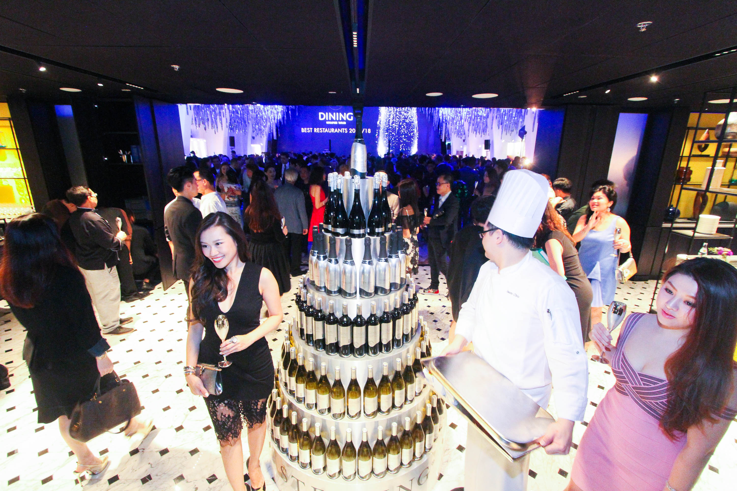 The wine tower, which was one of the most Instagrammed decor of the night