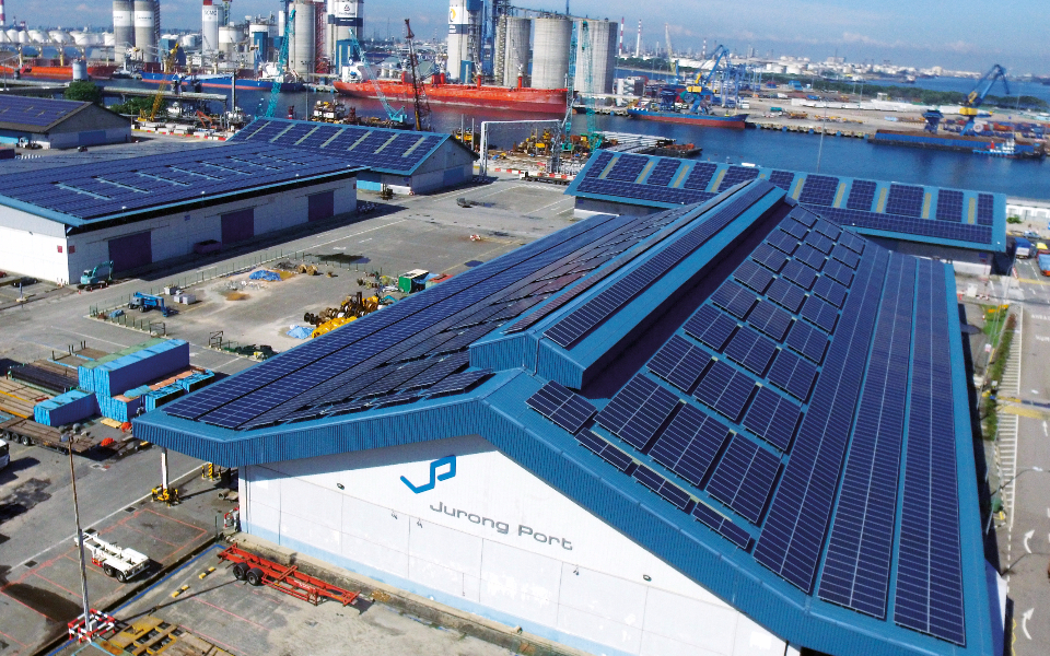 Place in the Sun: In 2016, Jurong Port became the largest port-based, solar facility in the world, producing 9,500MW at peak capacity, and reducing carbon emissions by 5,200 tonnes. The project was handled by Sunseap.