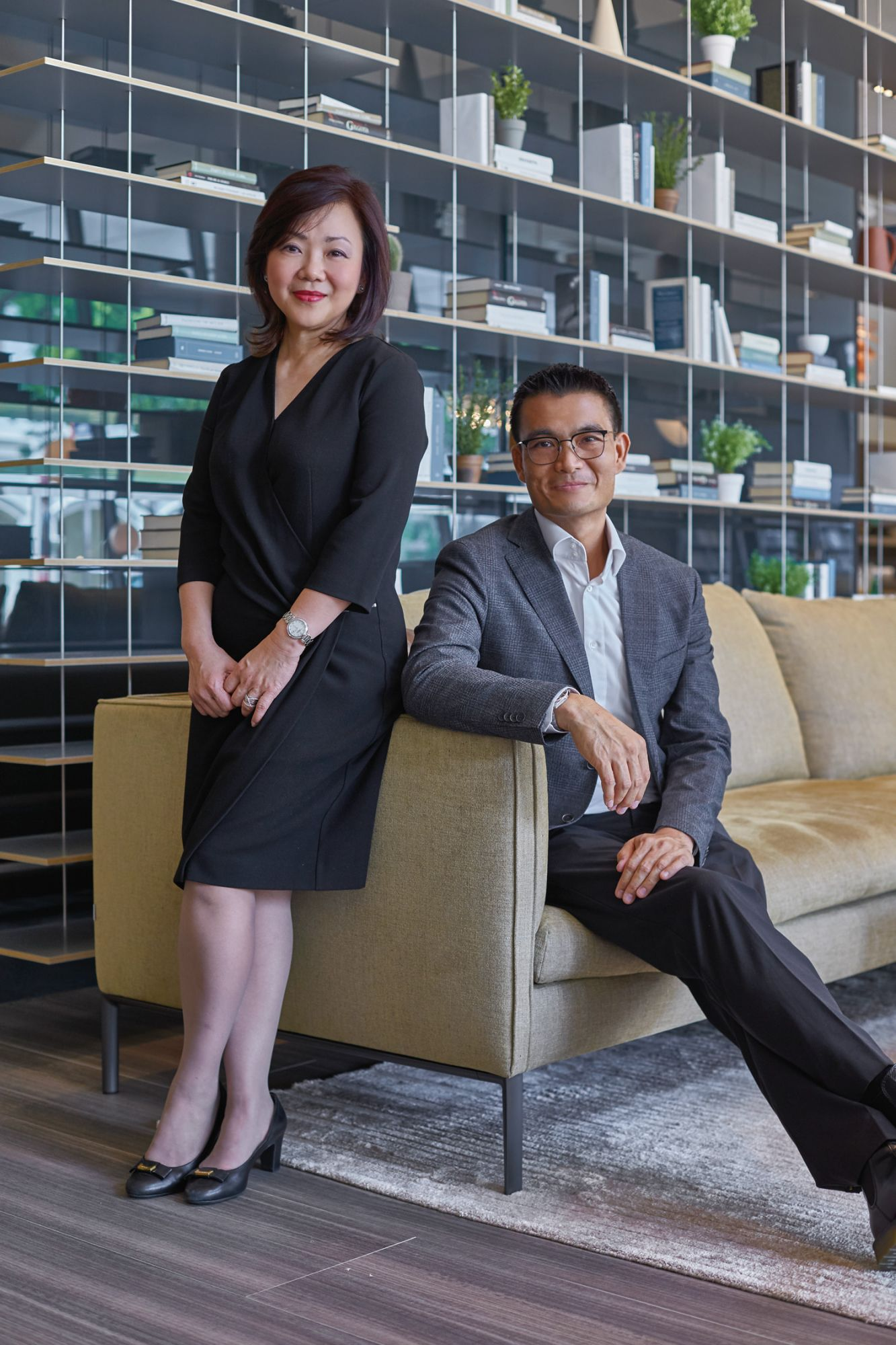 General manager Ann Lee with Calvin Ngo, vice-president of P5