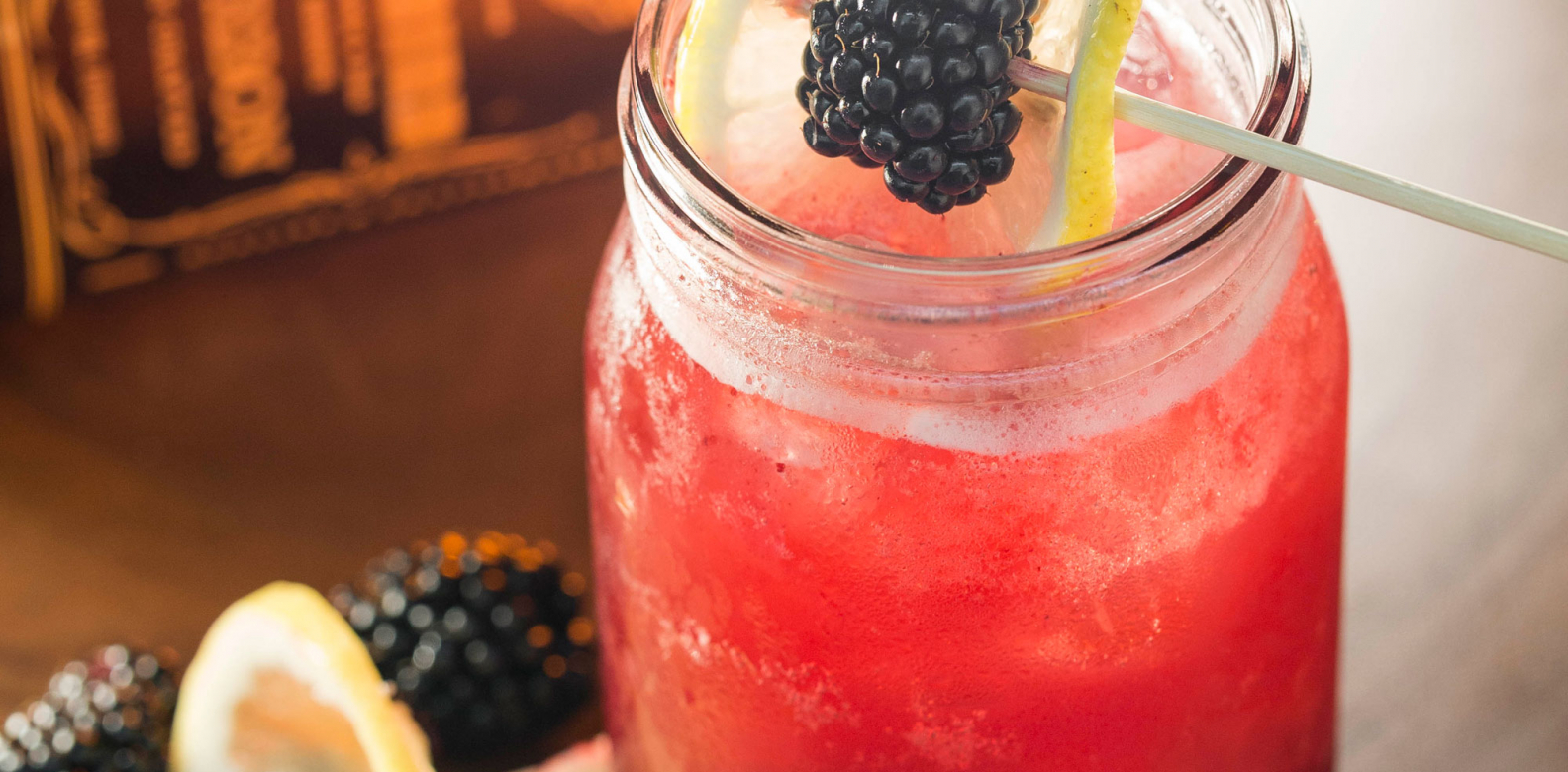 Blackberry Bourbon Lemonade at The Bird Southern Table & Bar