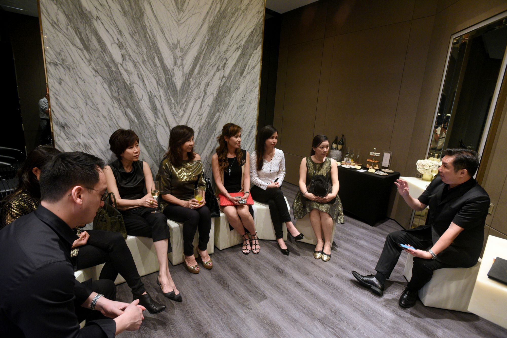 Dr. Christopher Looi, Sonia Ong, Nancy Ong, Violet Yeo, Carol Shieh, Sharon Lim, Dr. Frank Lee