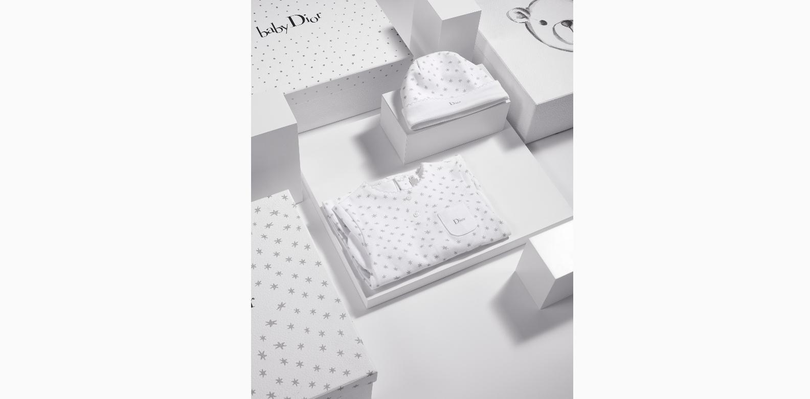"Baby Dior ""Lucky Stars"" hat and pyjamas; B1-63 The Shoppes at Marina Bay Sands"