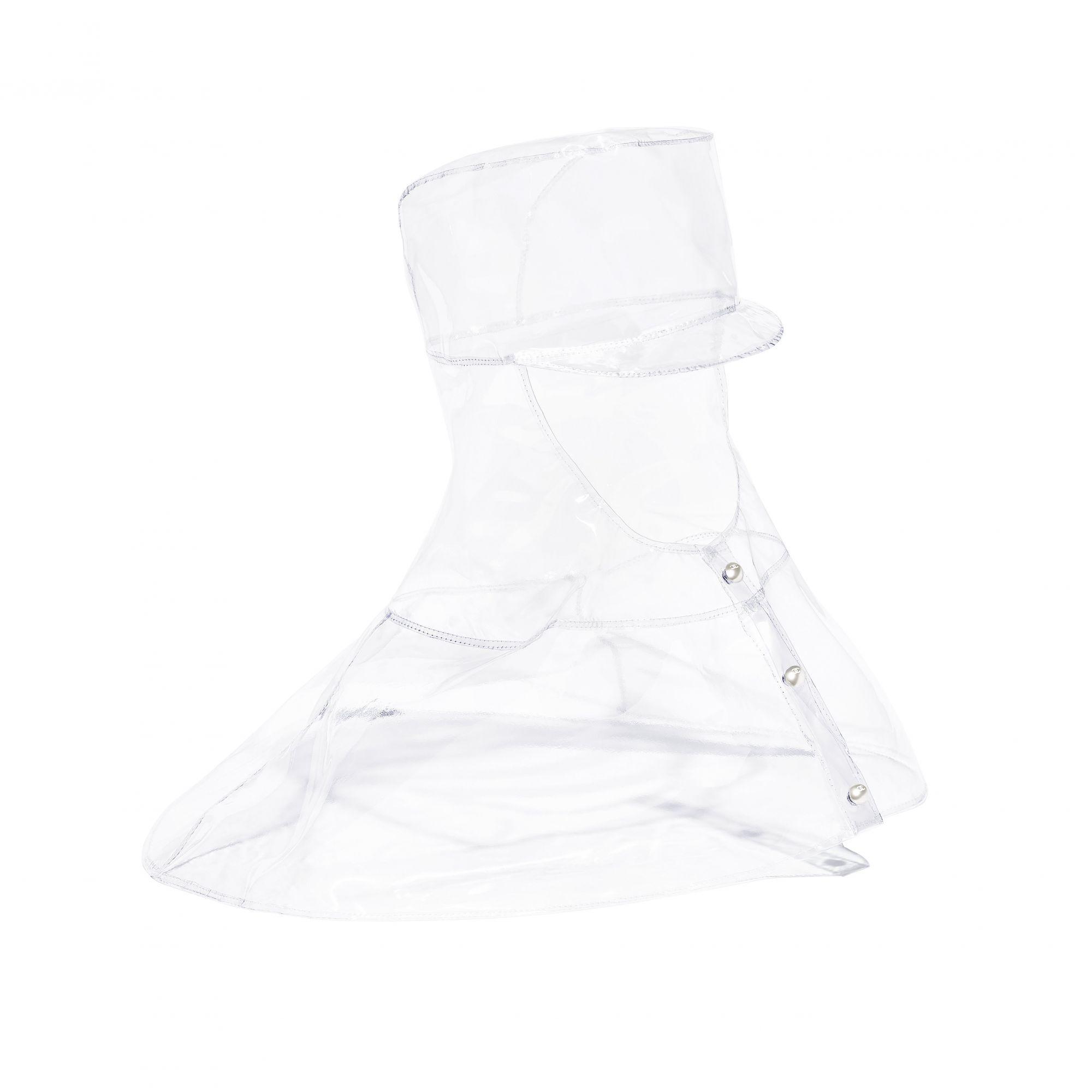 Hood in transparent PVC