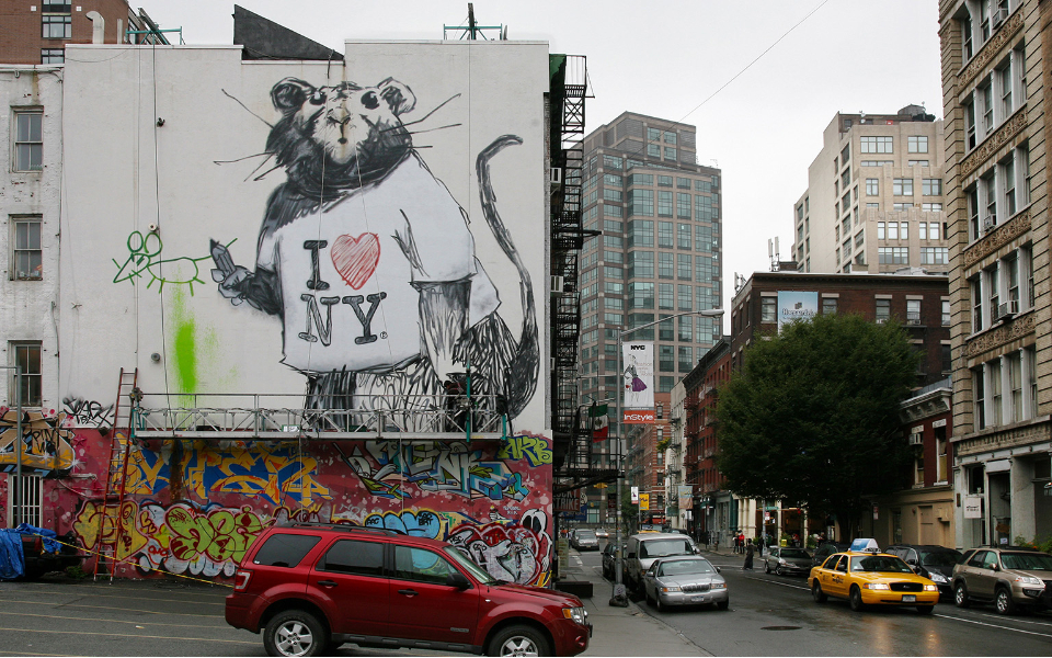 Banksy mural in New York. Image: courtesy of Ian Cox