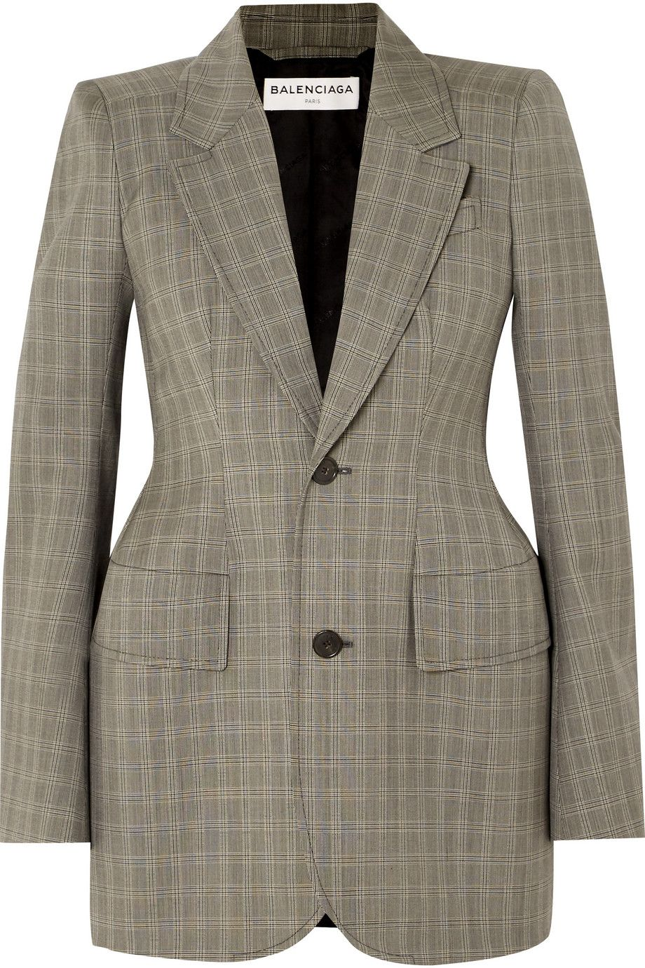 Net-A-Porter x Balenciaga Checked wool and mohair-blend blazer