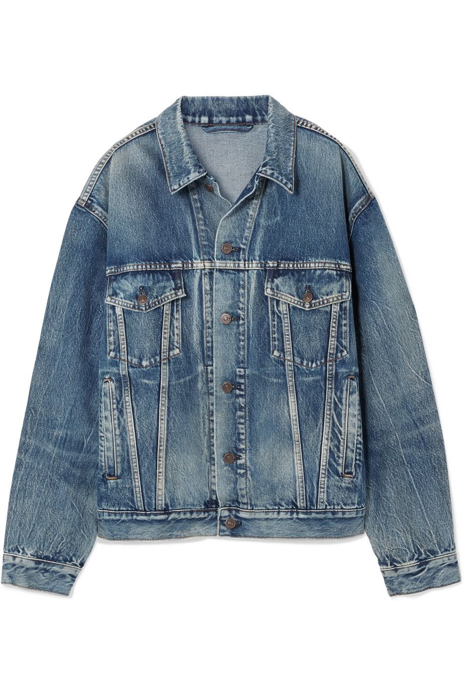 Net-A-Porter x Balenciaga Like A Man oversized printed denim jacket