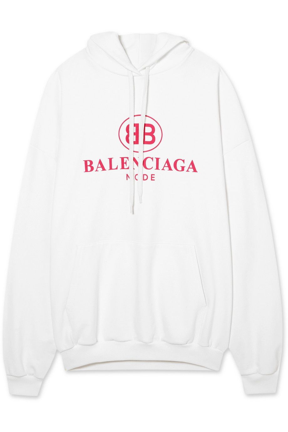 Mr Porter x Balenciaga Oversized printed cotton-jersey hooded top