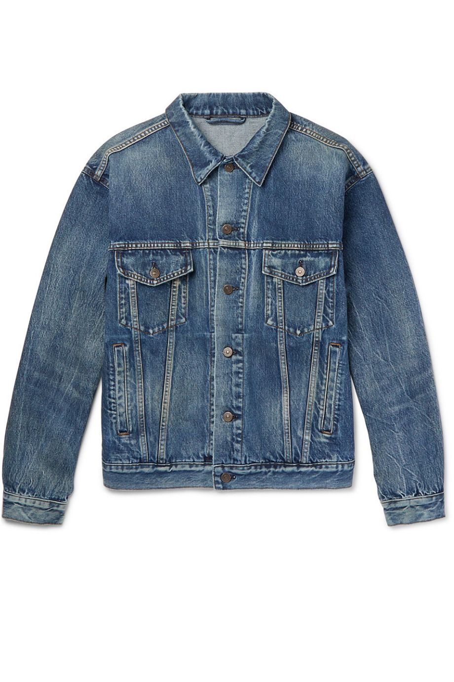 MR PORTER X BALENCIAGA Like A Man Oversized Printed Denim Jacket